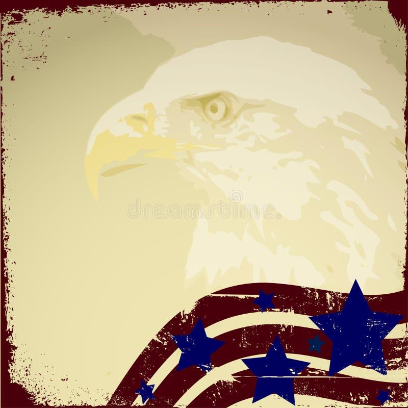 patriotisk bakgrund royaltyfri illustrationer