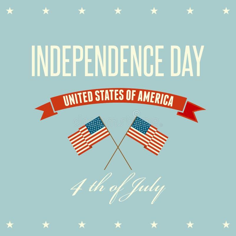 Patriotisk bakgrund för amerikansk självständighetsdagen stock illustrationer