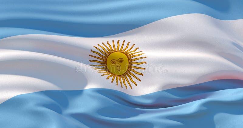 Patriotisk bakgrund för Argentina flagga, illustration 3d royaltyfri illustrationer