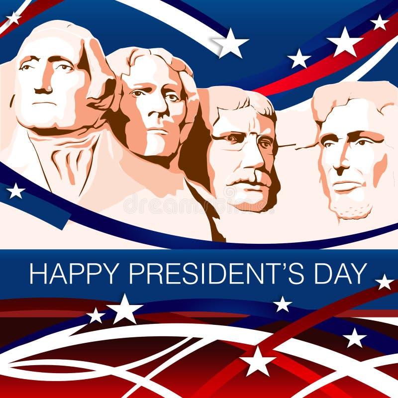 Patriotisk bakgrund för presidentdag royaltyfri illustrationer