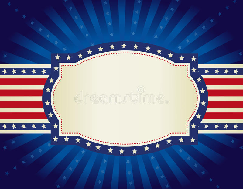 patriotisk bakgrundskant royaltyfri illustrationer