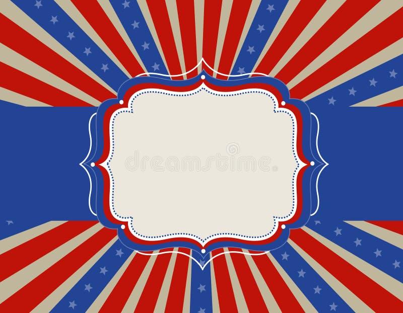 patriotisk bakgrundskant vektor illustrationer