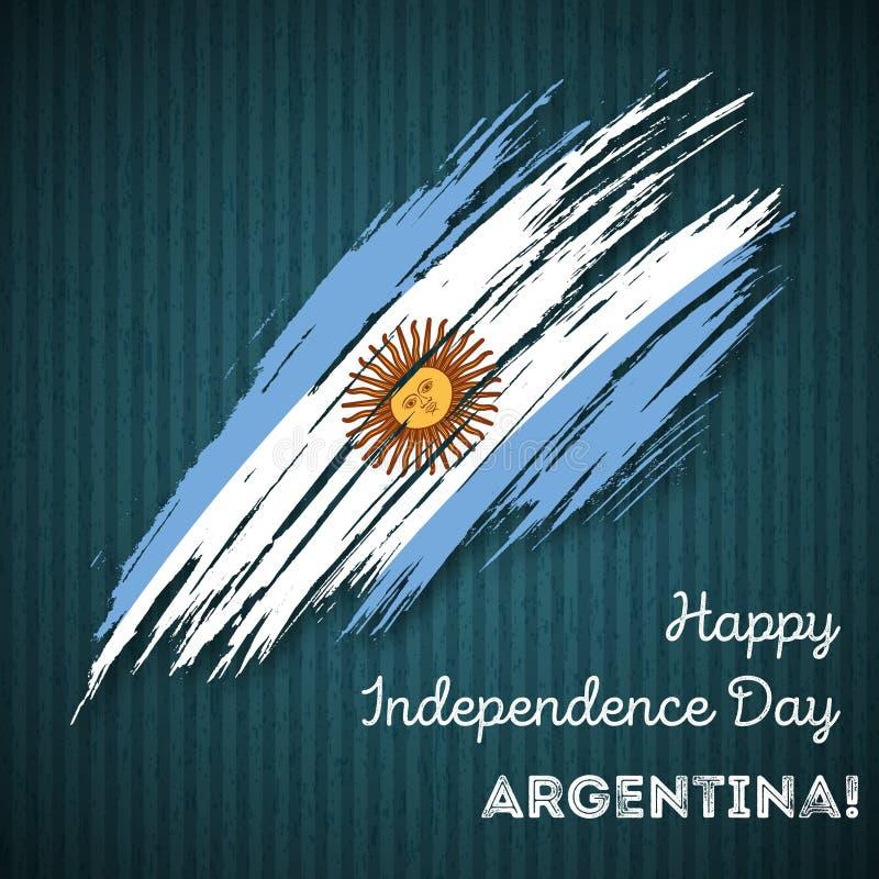 Patriotisk design för Argentina självständighetsdagen stock illustrationer