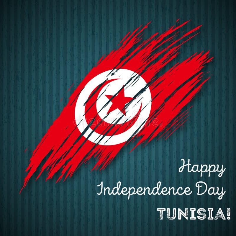 Patriotisk design för Tunisien självständighetsdagen stock illustrationer