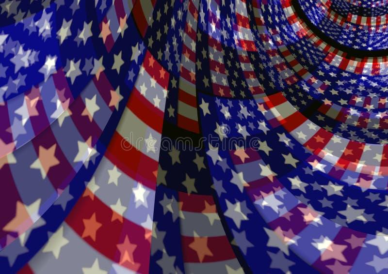 Patriotisk flödande bakgrund för abstrakt USA amerikanska flaggan arkivbild