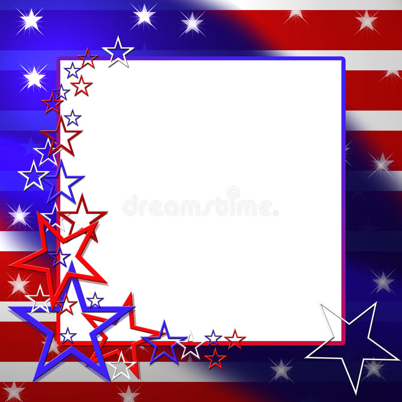 Patriotisk flaggaillustration royaltyfri illustrationer