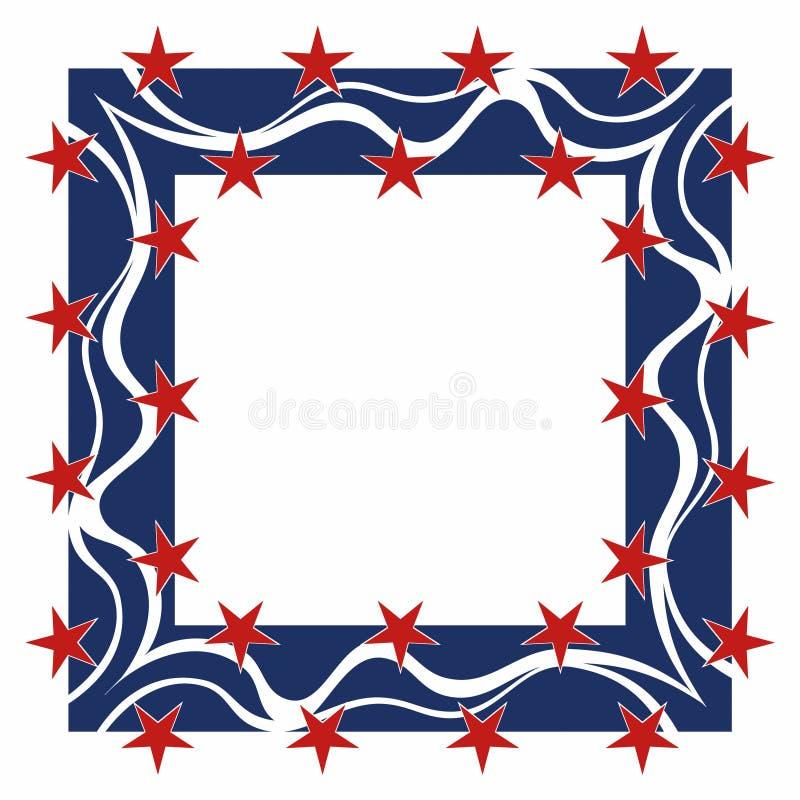 patriotisk fyrkant för ram stock illustrationer