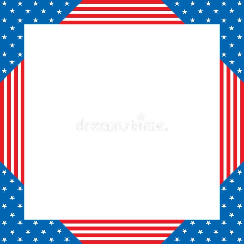 Patriotisk gräns royaltyfri illustrationer