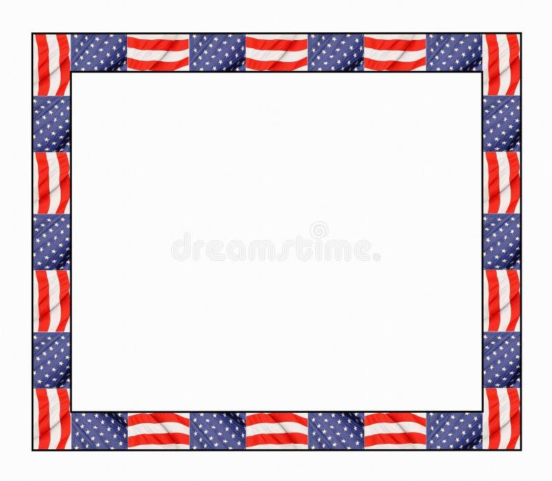 patriotisk kant stock illustrationer