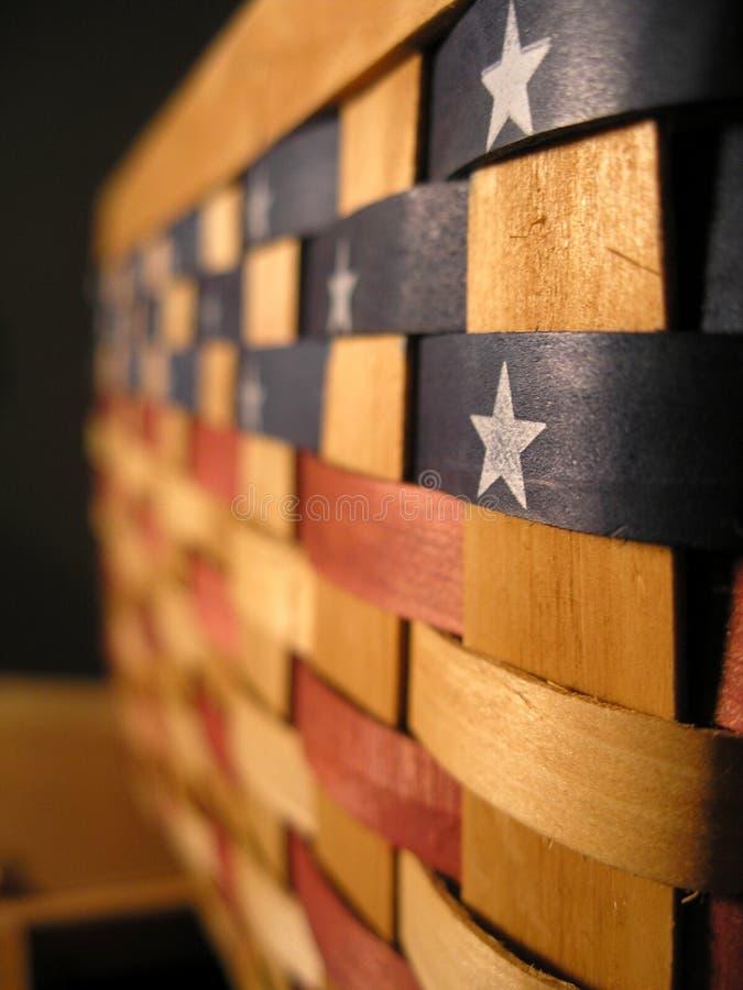 Patriotisk korg arkivfoto