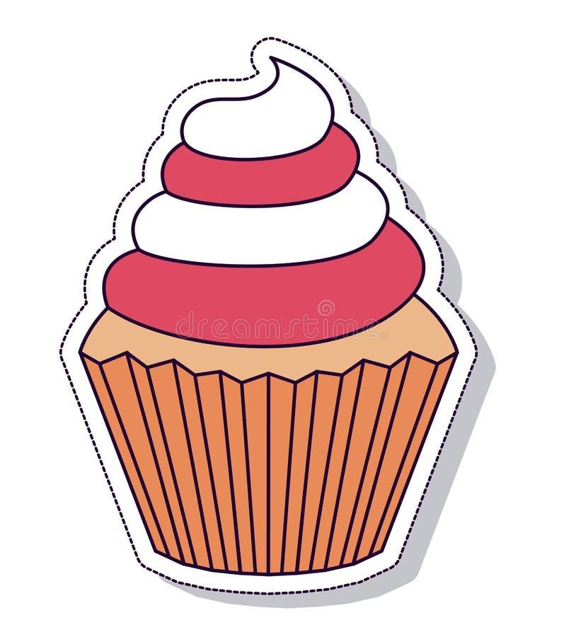 Patriotisk muffin isolerad symbolsdesign stock illustrationer