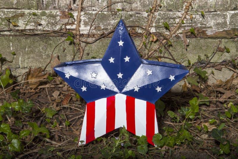 patriotisk stjärna royaltyfri foto