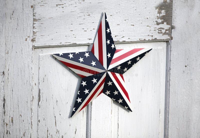 Patriotisk stjärna för Förenta staterna royaltyfria foton