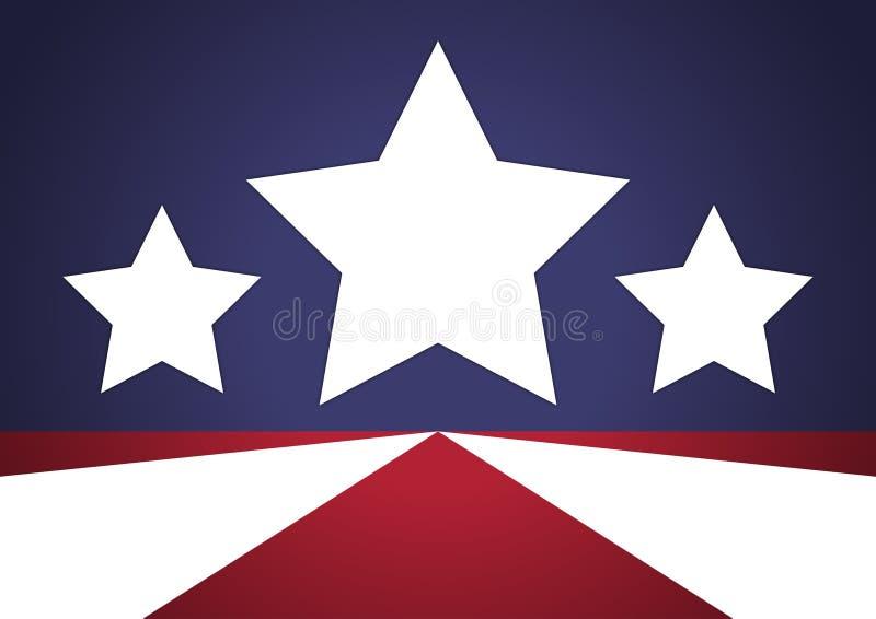 Patriotisk stjärnabakgrund stock illustrationer