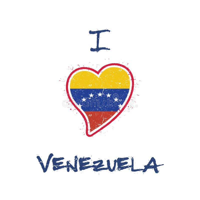 Patriotisk t-skjorta för venezuelansk flagga design stock illustrationer