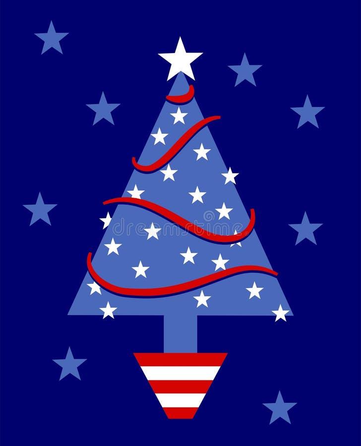 patriotisk tree stock illustrationer