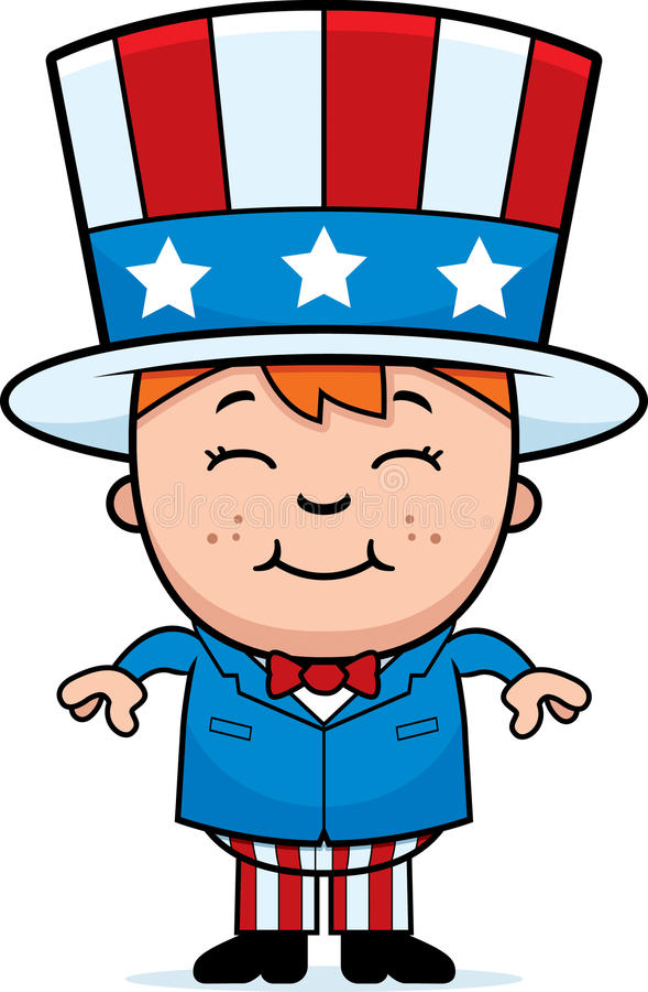 patriotisk unge vektor illustrationer