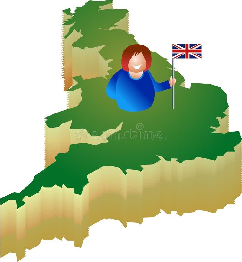 patriotiska britain vektor illustrationer