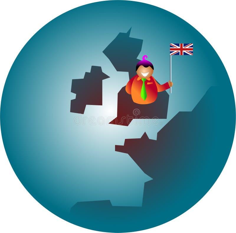 patriotiska britain stock illustrationer