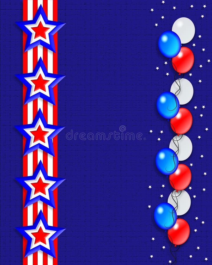 patriotiska stjärnaband för kant vektor illustrationer