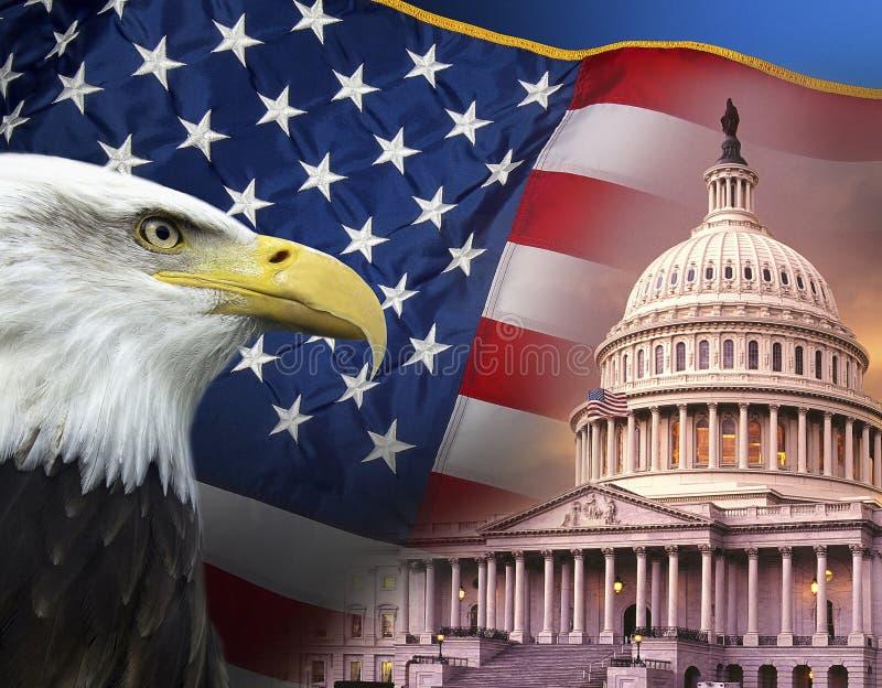 Patriotiska symboler - Amerikas förenta stater fotografering för bildbyråer