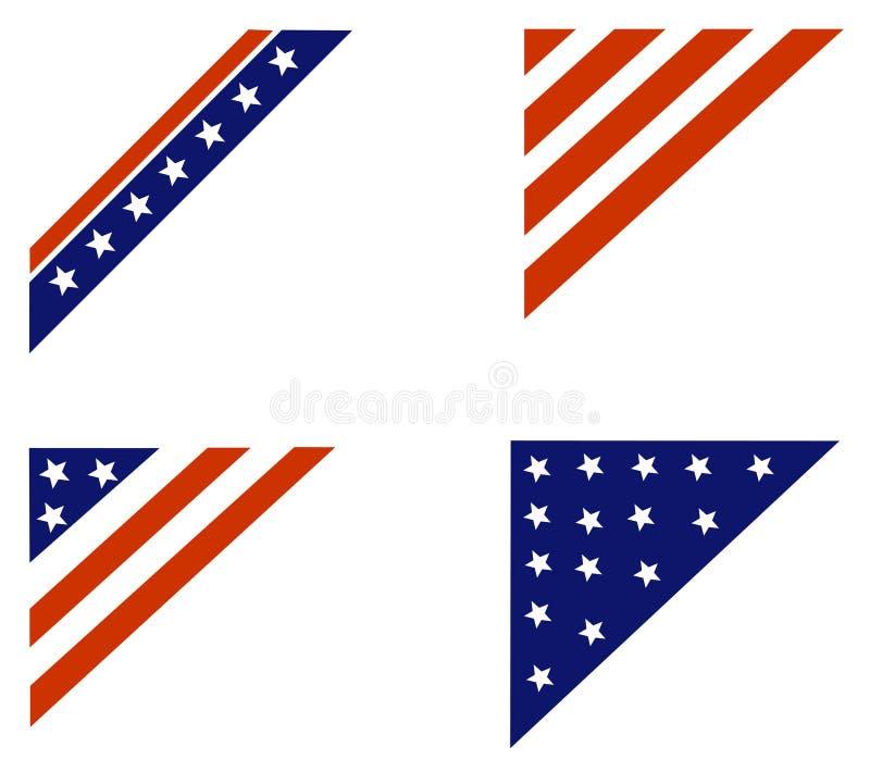 patriotiskt kanthörn royaltyfri illustrationer