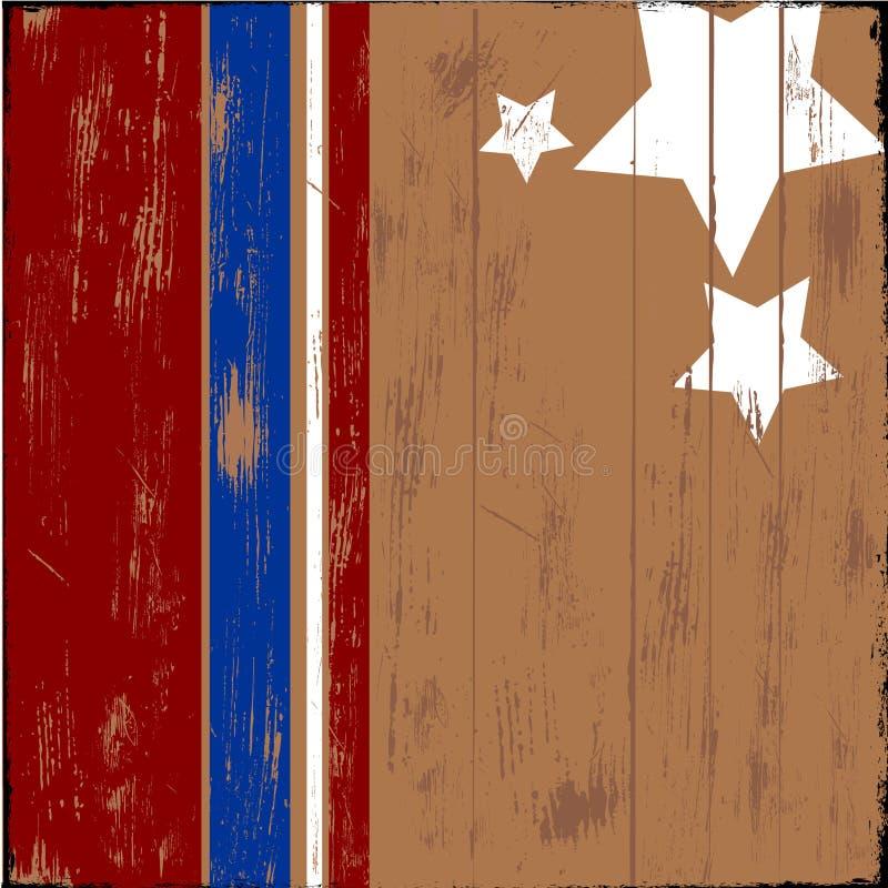 patriotiskt trä royaltyfri illustrationer