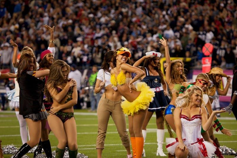 Download Patriots cheerleaders editorial stock image. Image of show - 26129379