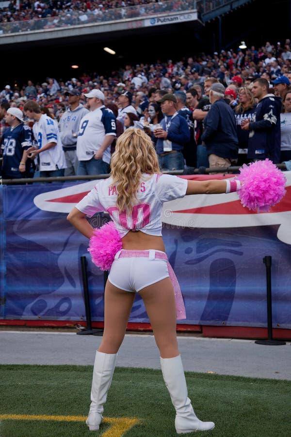 Patriotten cheerleader stock fotografie