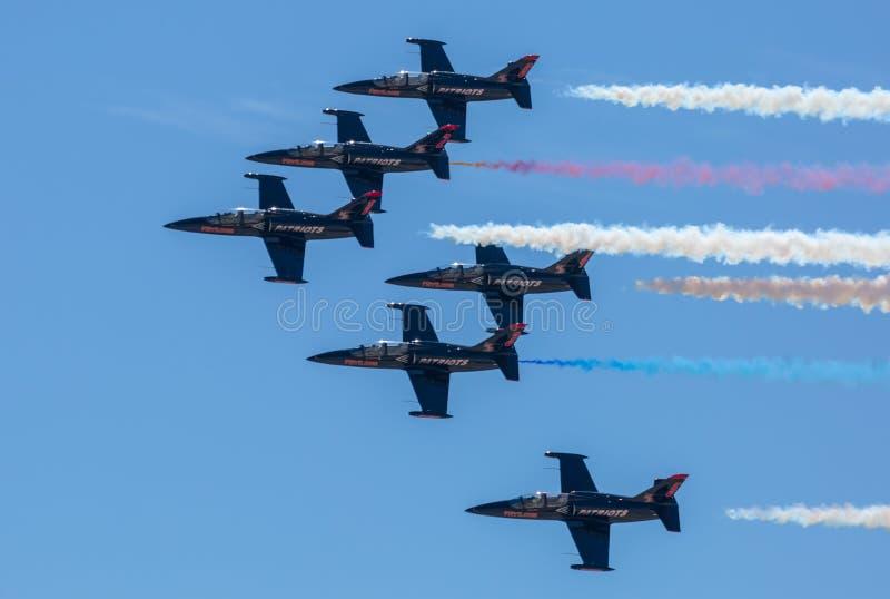 Patriotten Jet Team stock foto's