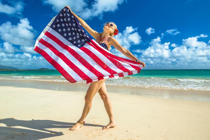 Patriottisch Amerikaans concept royalty-vrije stock foto's