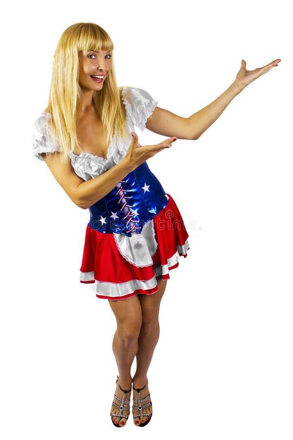 Patriottisch Amerikaans Meisje royalty-vrije stock fotografie