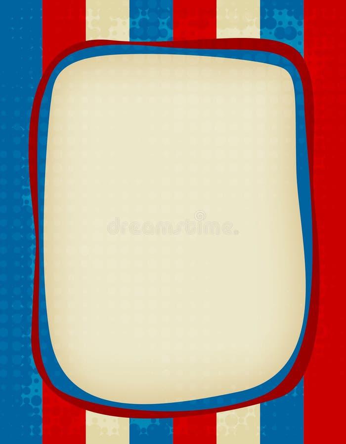 Patriottisch frame vector illustratie