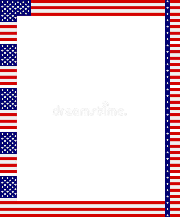 Patriottisch frame stock illustratie