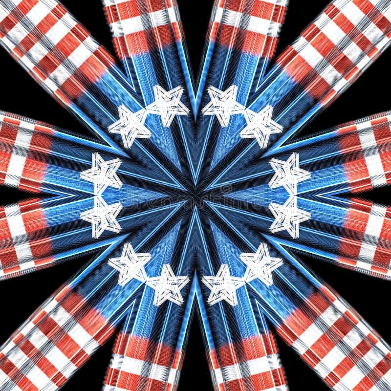 Patriottisch kleurrijk caleidoscoop grafisch concept royalty-vrije illustratie