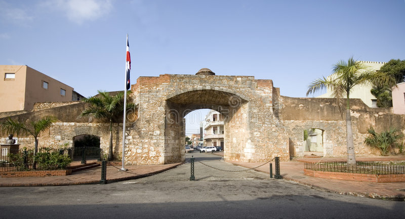 Patriottisch park met standbeeld Santo Domingo stock foto