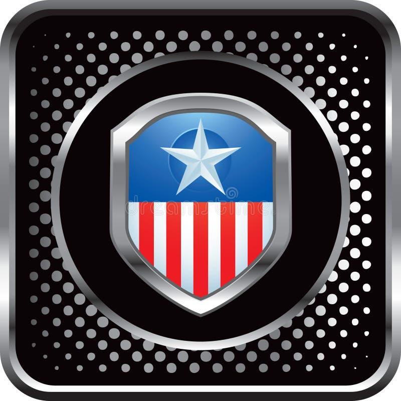 Patriottisch pictogram op zwart halftone Webpictogram royalty-vrije illustratie