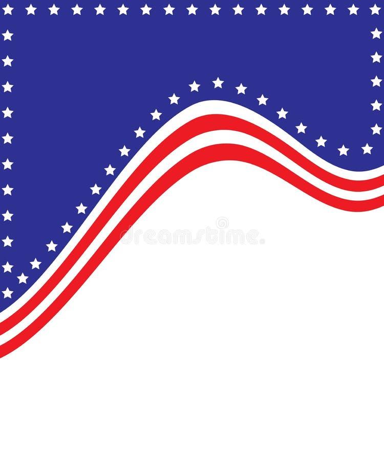 Patriottische Achtergrond stock illustratie