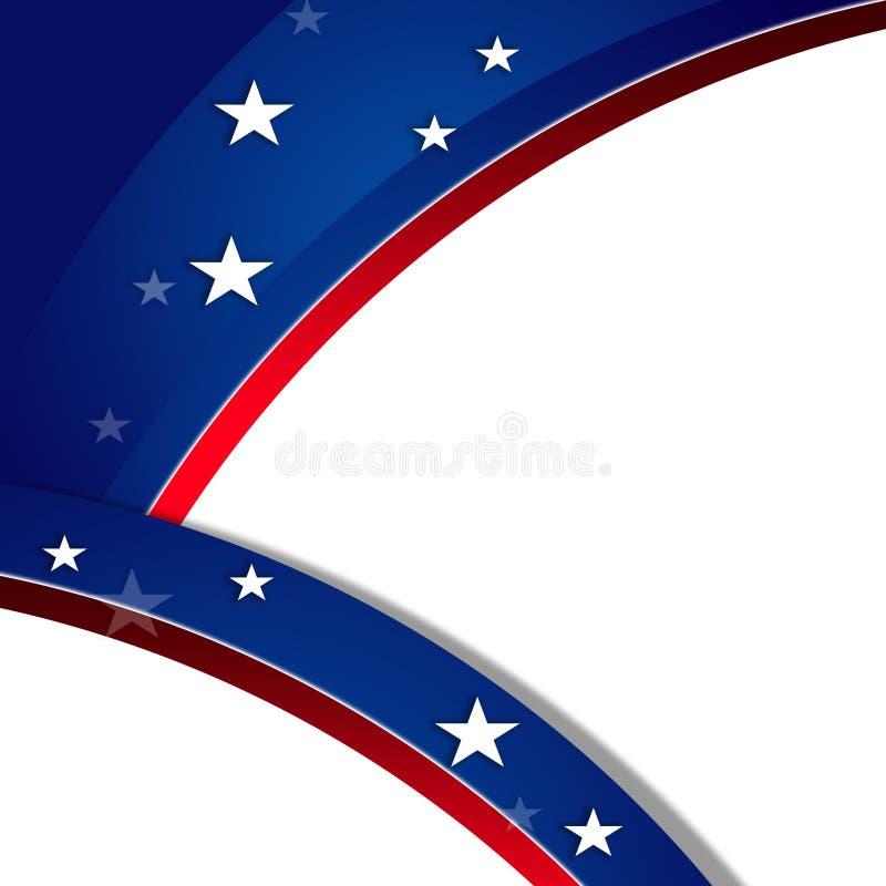 Patriottische achtergrond, MLK royalty-vrije illustratie