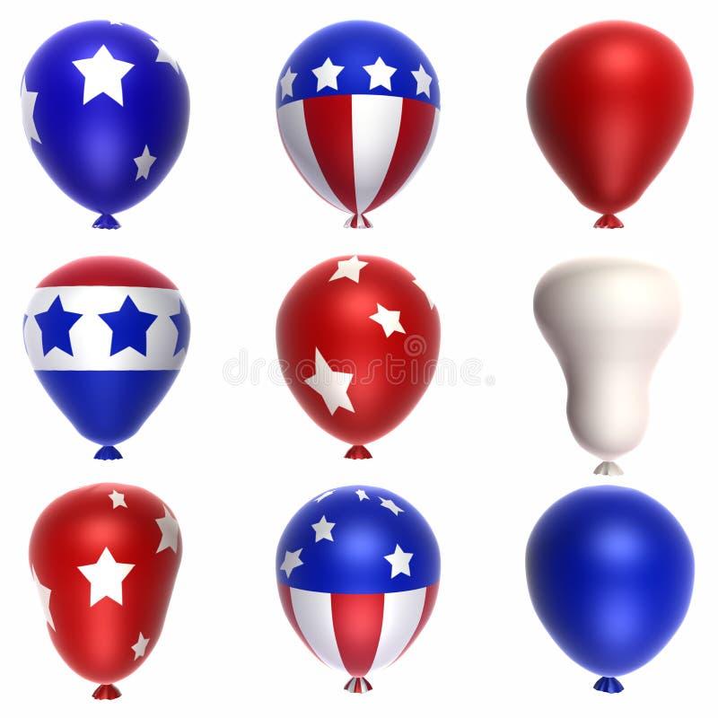 Patriottische Ballons vector illustratie