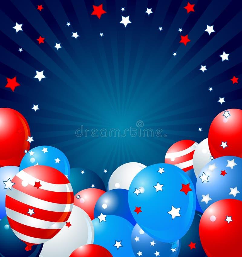 Patriottische ballonsgrens vector illustratie