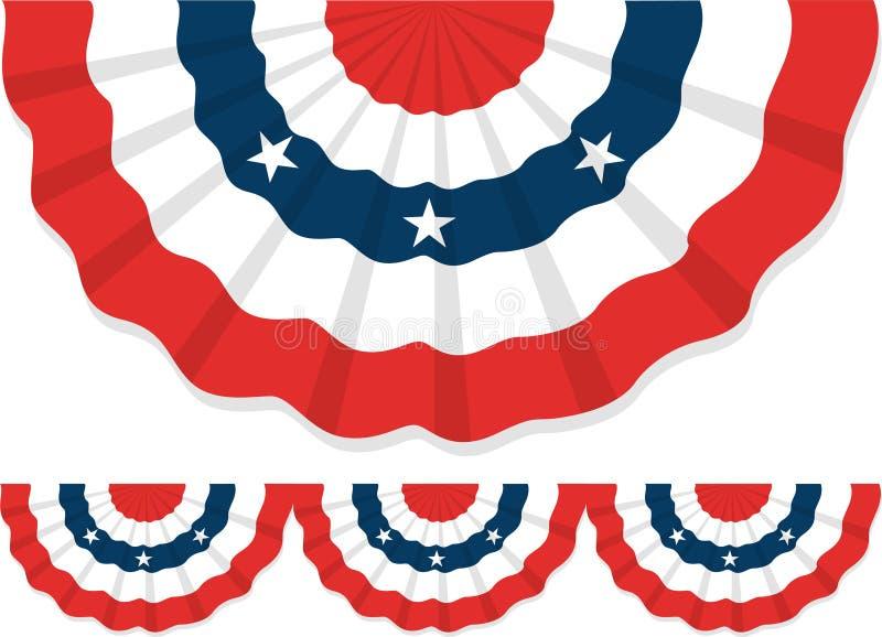 Patriottische Bunting/ai vector illustratie