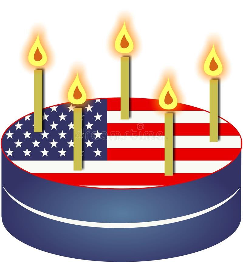 Download Patriottische Cake stock illustratie. Illustratie bestaande uit illustratie - 41120