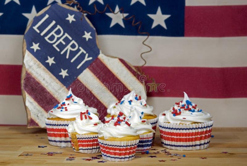 Patriottische Cakes royalty-vrije stock foto's