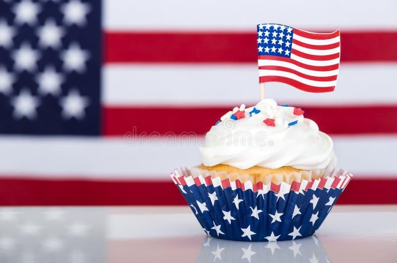 Patriottische cupcake stock foto