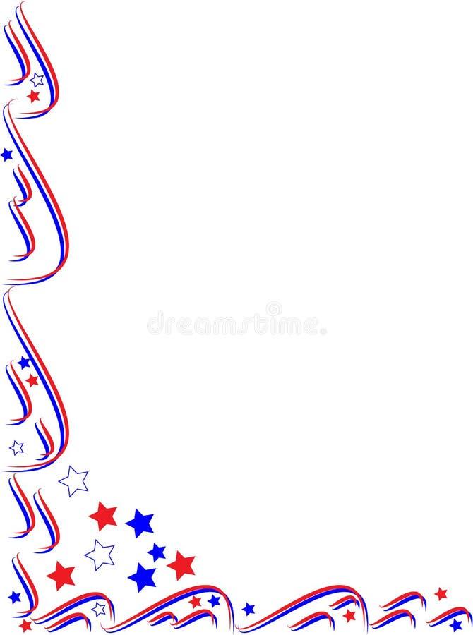 Patriottische frame grens vector illustratie