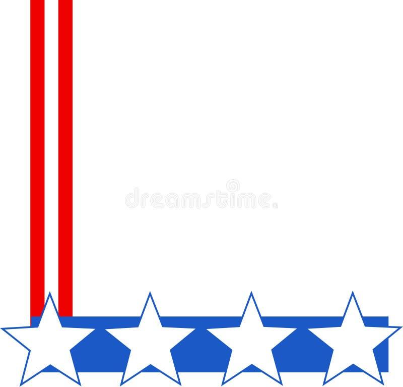 Patriottische Grens Royalty-vrije Stock Afbeeldingen