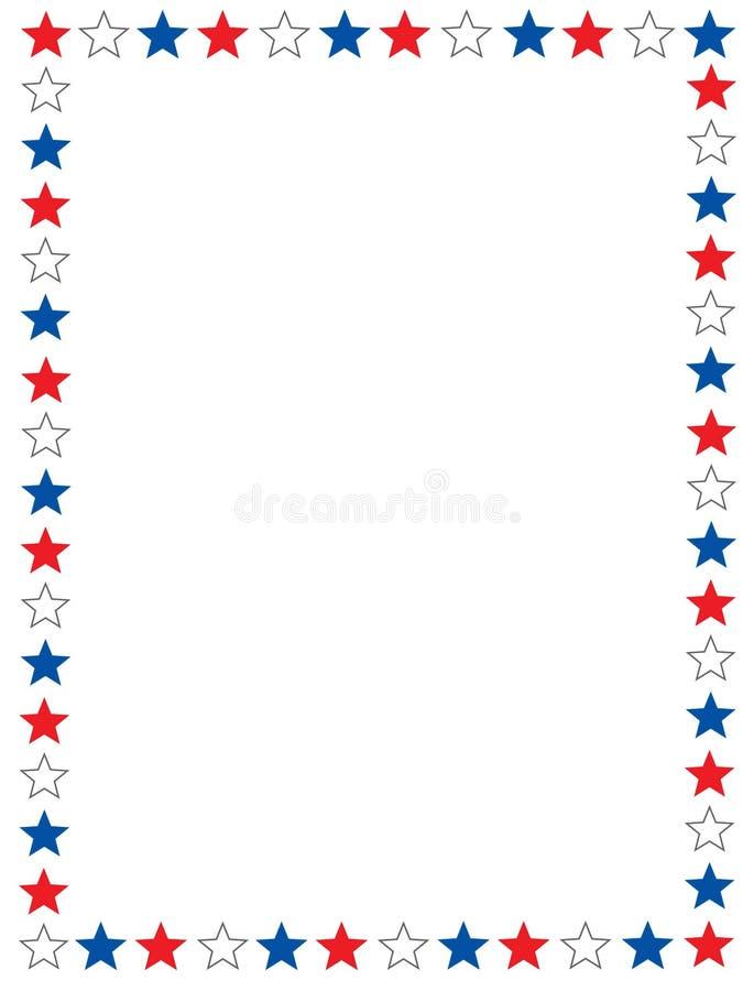 Patriottische grens royalty-vrije illustratie