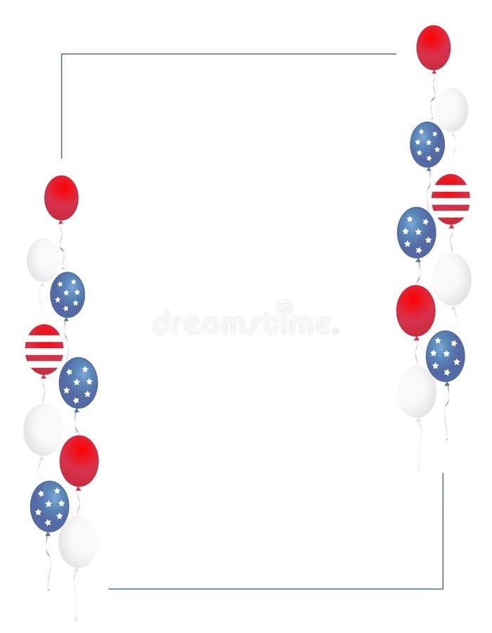 Patriottische grens/ballons royalty-vrije illustratie