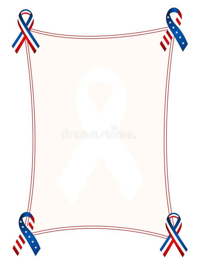 Patriottische grens/frame vector illustratie